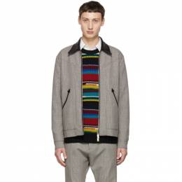 Dsquared2 Multicolor Houndstooth Zip Jacket S71AM0993 S49268