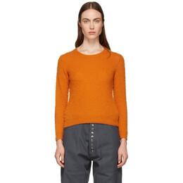 Acne Studios Orange Shrunken Fit Crewneck Sweater A60010