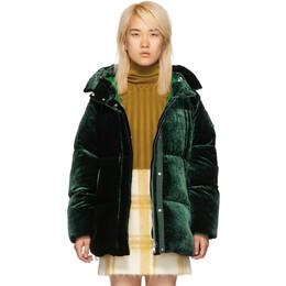 Moncler Green Velvet Down Butor Jacket 182111F06103001GB