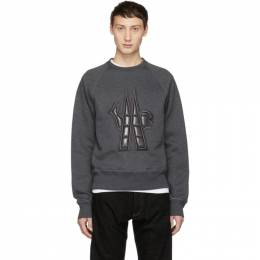Moncler Grenoble Grey Quilted Maglia Sweatshirt 80002 50 80426