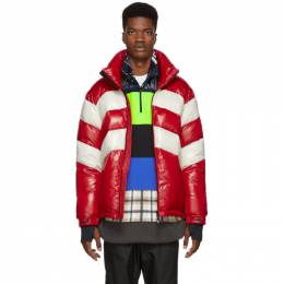 Moncler Grenoble Red and Off-White Down Golzern Jacket 41915 85 68950