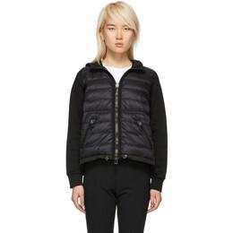 Moncler Black Down Hooded Jacket 182111F06300603GB