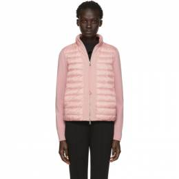 Moncler Pink Knit and Down Jacket 191111F06300901GB