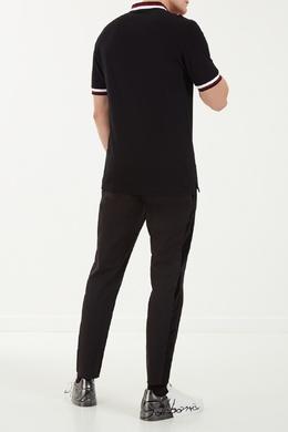 Черное поло с логотипом Dolce & Gabbana 599101296