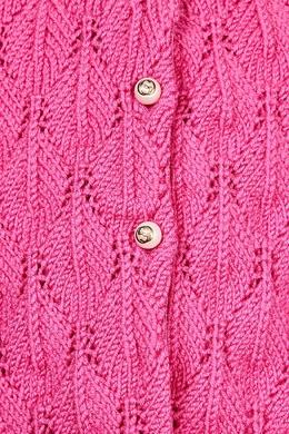 Розовый кардиган с жемчужными пуговицами Gucci Kids 1256102767