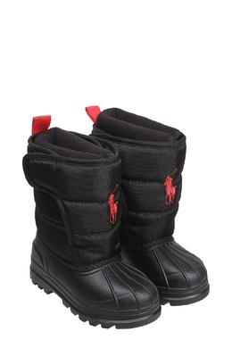 Черные сапоги с логотипом Ralph Lauren Kids 1252102820