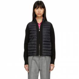 Moncler Black Down Knit Combo Jacket 191111F06301001GB