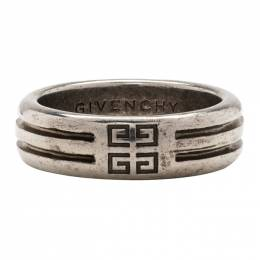 Givenchy Silver 4G Double Row Ring 191278M14700303GB