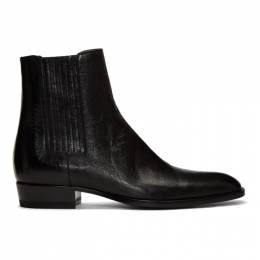 Saint Laurent Black Wyatt Chelsea Boots 550062 0Z000