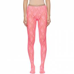 Gucci Pink Lace Tights 191451F07601901GB
