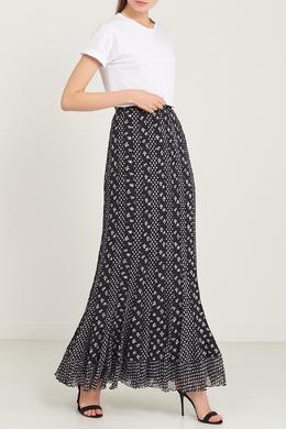 Длинная шелковая юбка с контрастным принтом Diane Von Furstenberg 11082766