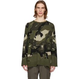 Valentino Green Camo Sweater RV3KC01WKFP