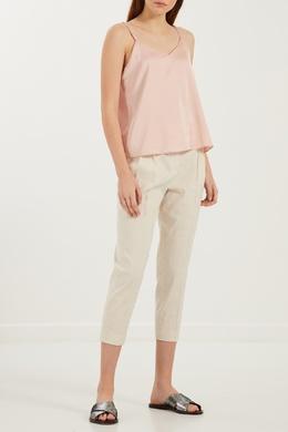 Бежевые брюки с подвесками Lorena Antoniazzi 2136105196