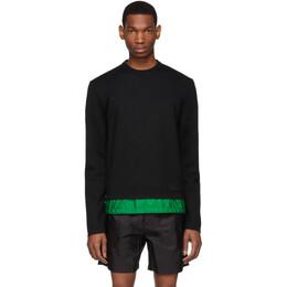 Prada Black and Green Wool Sweater 191962M20100204GB
