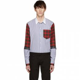 Dsquared2 Multicolor Mixed Stripe and Check Military Shirt S74DM0255 S44925