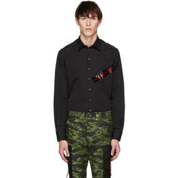 Dsquared2 Black Punk Logo Tape Carpenter Shirt S47DM0231 S36275