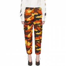 Off-White Orange Camouflage Cargo Trousers OWCF004R19A660579900