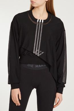 Асимметричный черный джемпер с отделкой Y-3 1044106396