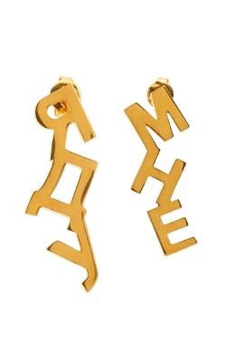 Позолоченные серьги-буквы Insight 2800106264