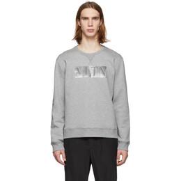 Valentino Grey Metallic VLTN Sweatshirt RV3MF01JCXL