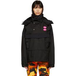 Off-White Black Ski Anorak Jacket OMEA167R19C050211000
