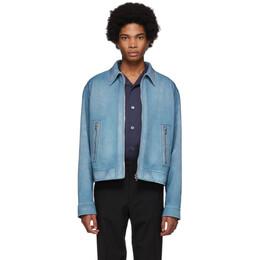 Prada Blue Suede Jacket 191962M17500404GB