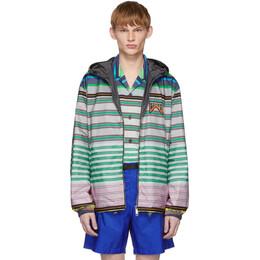 Prada Reversible Multicolor Striped Nylon Jacket 191962M18000205GB