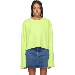Acne Studios Green Cropped Odice Sweatshirt AI0022