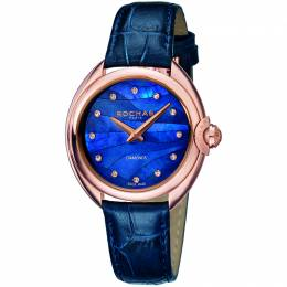 Rochas Blue MOP Rose Gold Plated Stainless Steel RP2L006L0041 Women's Wristwatch 34MM 179648