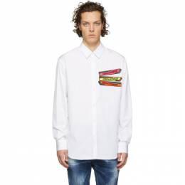 Dsquared2 White Poplin Relaxed Dan Shirt S71DM0313 S36275