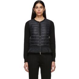 Moncler Black Down Ruffle Jacket 191111F06300402GB