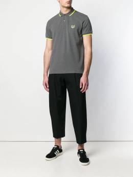 Kenzo рубашка-поло с вышитым тигром F005PO2014BA