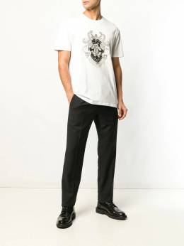 Roberto Cavalli футболка с вышивкой HNT601JD060