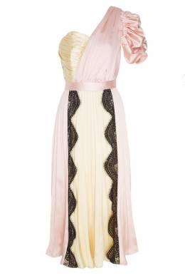Розовое платье с плиссировкой Self-portrait 532109865