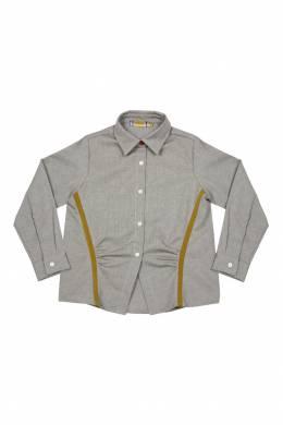 Бежевая рубашка с контрастной отделкой #MumOfSix 2642111022