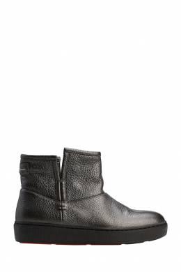 Серые ботинки из овчины Santoni 1165111094