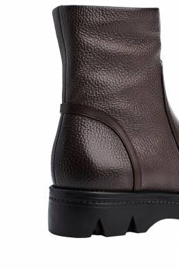 Ботинки из коричневой кожи Santoni 1165111104