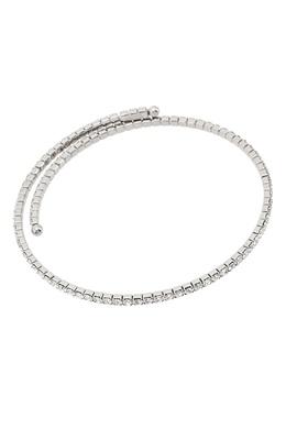 Серебристый чокер с кристаллами Miu Miu 375111574