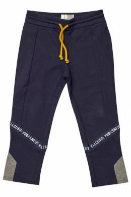 Синие спортивные брюки с отделкой Yudashkin Kids 2822112775