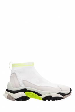 Высокие белые кроссовки Addict Stretch Ash 6112432