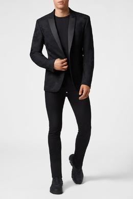 Черный пиджак с аппликацией Philipp Plein 1795113171