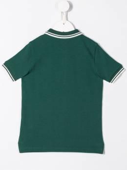 Moncler Kids рубашка-поло с контрастной отделкой 95483065058496W866