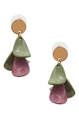 Фиолетово-зеленые серьги Rubynovich 1346115874
