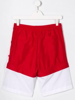 GCDS Kids двухцветные спортивные шорты с логотипом 019501