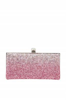 Клатч Celeste с розовым глиттером Jimmy Choo 25117432