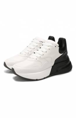 Кожаные кроссовки Alexander McQueen 553683/WHRU3
