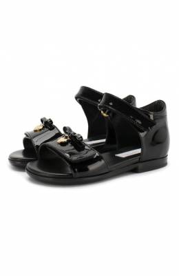 Кожаные босоножки Dolce & Gabbana D20045/A1328