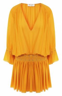 Шелковое платье Saint Laurent 549904/Y059R