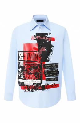 Хлопковая рубашка Dsquared2 S74DM0229/S36275