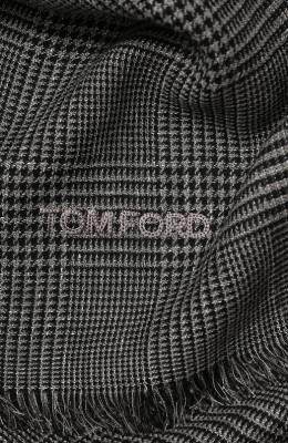 Шарф из смеси шерсти и льна Tom Ford 5TF129/2T5